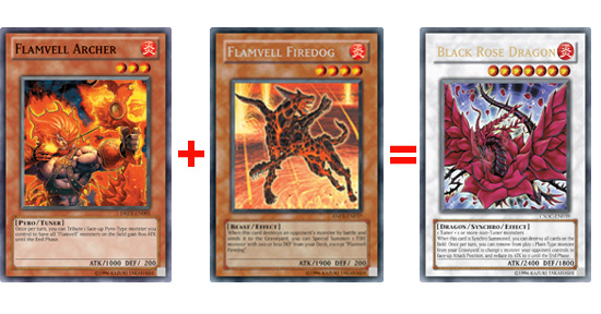 Flamvel Archer + Flamvell FireDog = Black Rose Dragon