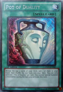 YuGiOh Card Pot of Duality Duelist Revolution