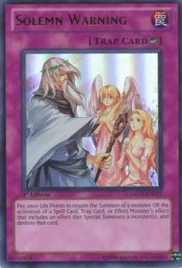 YuGiOh Card Solemn Warning Duelist Revolution