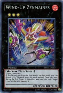 Wind Up Zenmaines YuGiOh Card Games Photon Shockwave