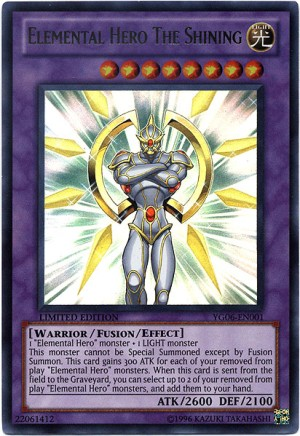 Elemental HERO The Shining YuGiOh Card