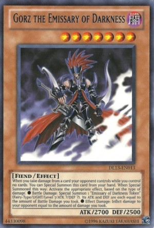 Gorz the Emissary of Darkness Yugioh card