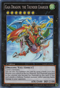 Gaia Dragon the Thunder Charger YuGiOh Card Game