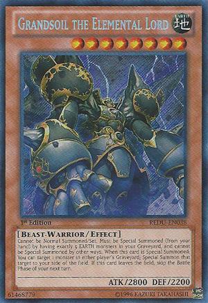 Grandsoil the Elemental Lord YuGiOh Card Game