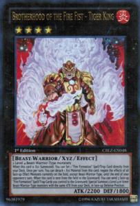 YuGiOh Cards Game Brotherhood of the Fire Fist Tiger King