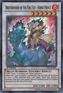 Botherhood of the fire fist Horse Prince YuGiOh Card Game