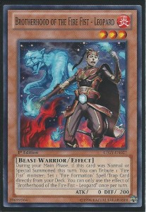 Brotherhood of the fire fist Leopard YuGiOh Card Game